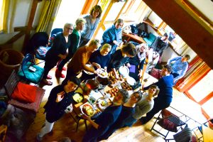 communal meal singing residential
